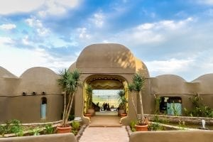 תמונה של המלון בו שוהים במהלך טיול ספארי באפריקה