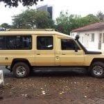 תמונה של ג'יפ שצולמה במהלך טיול לקניה